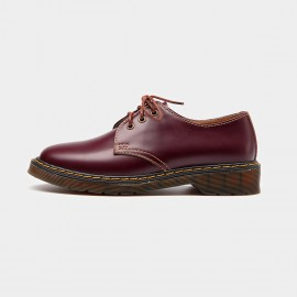Beau Casual Round Toe Contrasting Sole Red Lace Ups (21058)