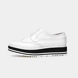 Beau Modern Oxford Layer Sole White Lace Ups (21059)