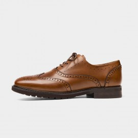 Beau Classic Wingtip Oxford Yellow Lace Ups (21069)