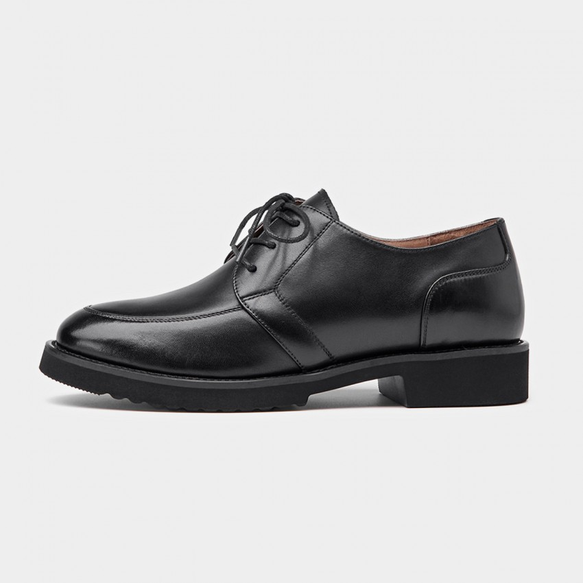 Buy Beau Plain Leather Black Lace Ups online, shop Beau with free shipping