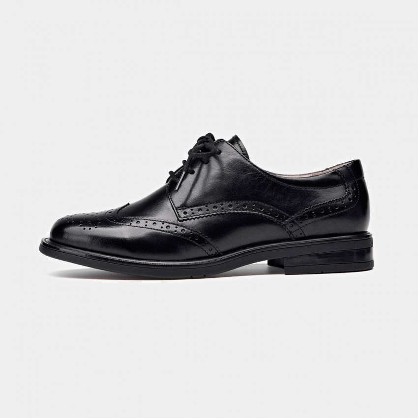 Buy Beau Wingtip Oxford Layer Sole Black Lace Ups online, shop Beau with free shipping