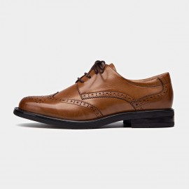 Beau Wingtip Oxford Layer Sole Brown Lace Ups (21086)
