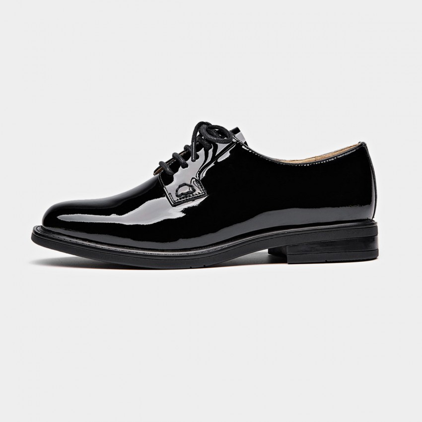 Buy Beau Glossy Layer Sole Black Lace Ups online, shop Beau with free shipping