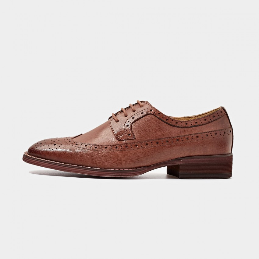 Buy Beau Square Toe Oxford Contrasting Sole Coffee Lace Ups online, shop Beau with free shipping