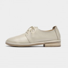Beau Casual Soft Leather Beige Loafers (24020)
