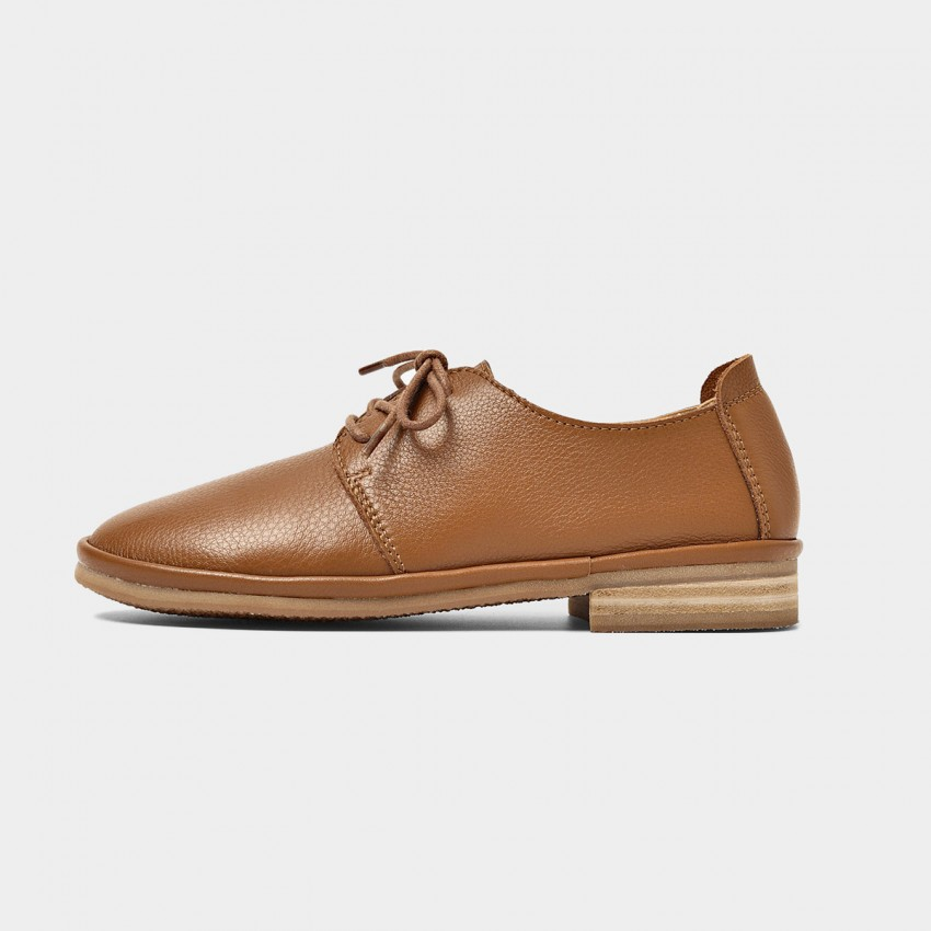 Buy Beau Casual Soft Leather Brown Lace Ups online, shop Beau with free shipping