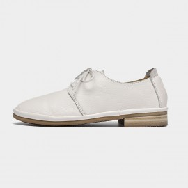Beau Casual Soft Leather White Loafers (24020)