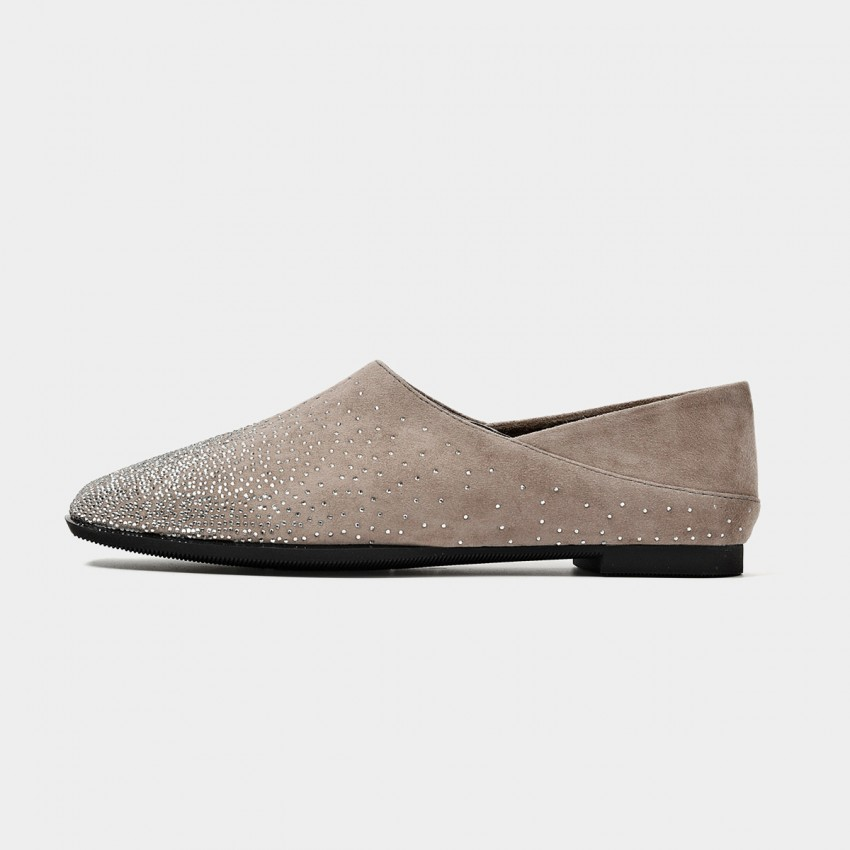 Buy Beau Scattered Gradient Gemstones Khaki Flats online, shop Beau with free shipping