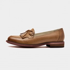 Beau Ribbon Gradient Sole Brown Loafers (27031)