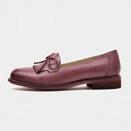 Beau Ribbon Gradient Sole Pink Loafers (27031)