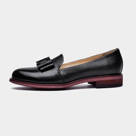 Beau Bow Gradient Sole Black Loafers (27046)