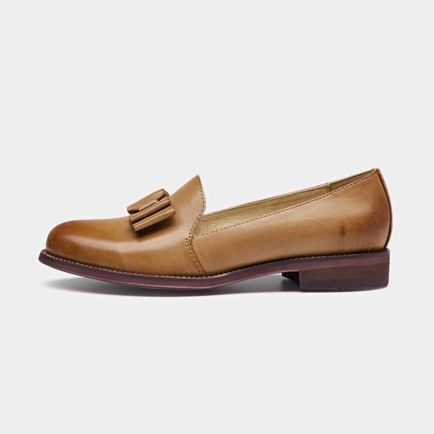 Buy Beau Bow Gradient Sole Brown Loafers online, shop Beau with free shipping