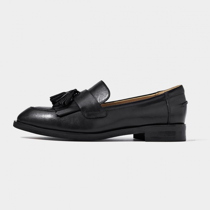 Buy Beau Basic Tassel Black Loafers online, shop Beau with free shipping