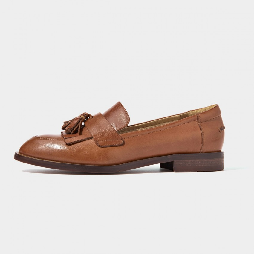 Buy Beau Basic Tassel Brown Loafers online, shop Beau with free shipping