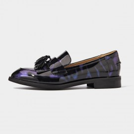 Beau Basic Tassel Purple Loafers (27081)