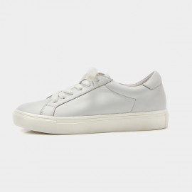 Beau Simple Laced White Sneakers (29008)