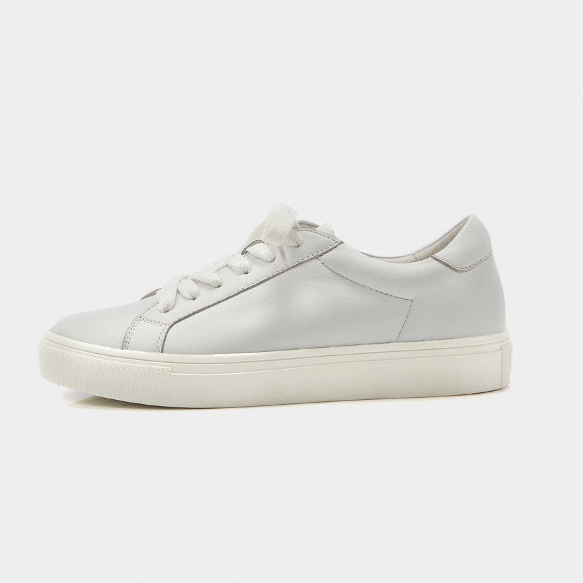 Buy Beau Simple Laced White Sneakers online, shop Beau with free shipping