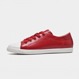 Beau Playful Laced Contrasting Toes Red Sneakers (29033)