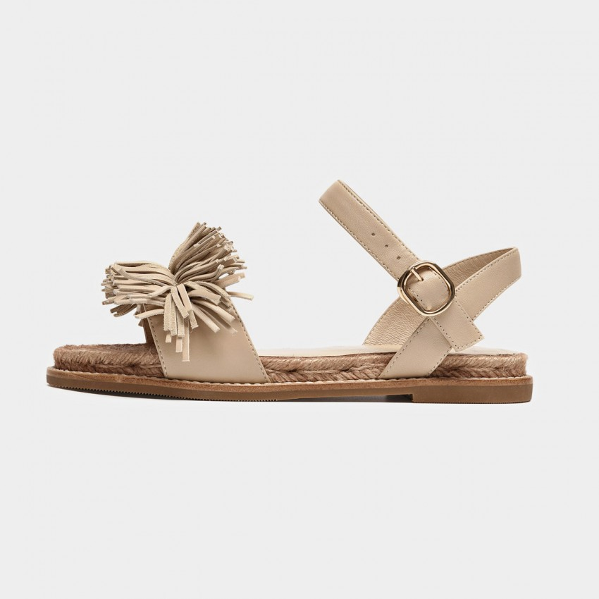 Buy Beau Tassel Espadrille Beige Sandals online, shop Beau with free shipping