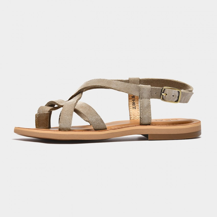 Buy Beau Multi Cross Strap Beige Sandals online, shop Beau with free shipping