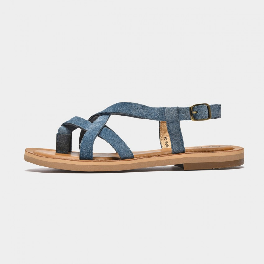Buy Beau Multi Cross Strap Blue Sandals online, shop Beau with free shipping