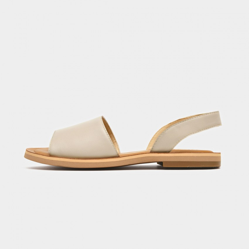 Buy Beau Simple Leather Beige Sandals online, shop Beau with free shipping