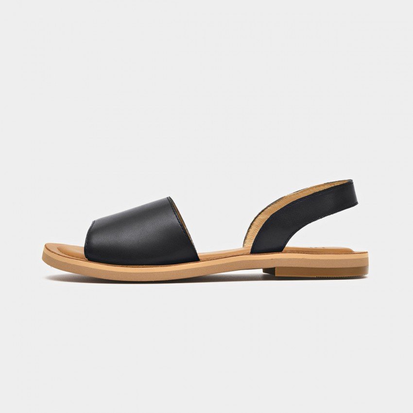 Buy Beau Simple Leather Black Sandals online, shop Beau with free shipping