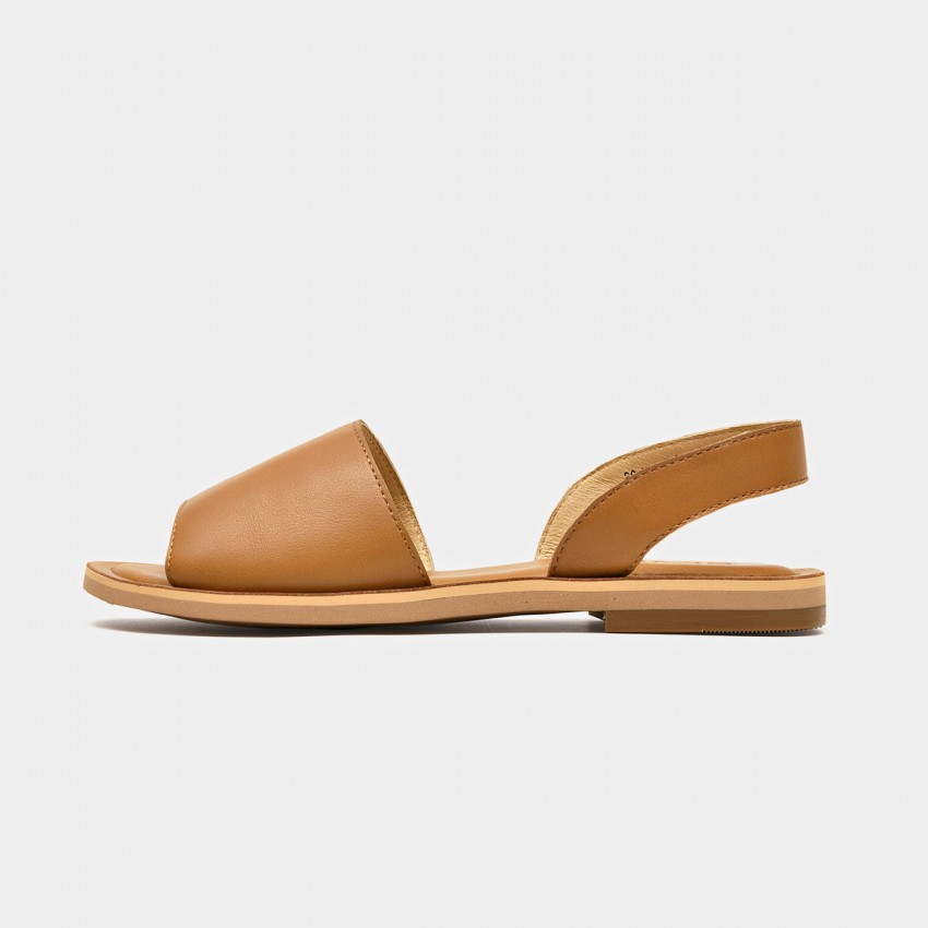 Buy Beau Simple Leather Brown Sandals online, shop Beau with free shipping