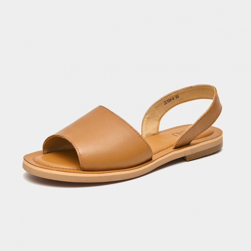 Beau Simple Leather Brown Sandals (32068)