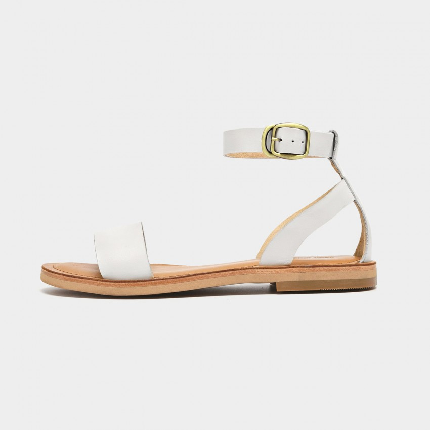 Buy Beau Basic Ankle Strap White Sandals online, shop Beau with free shipping