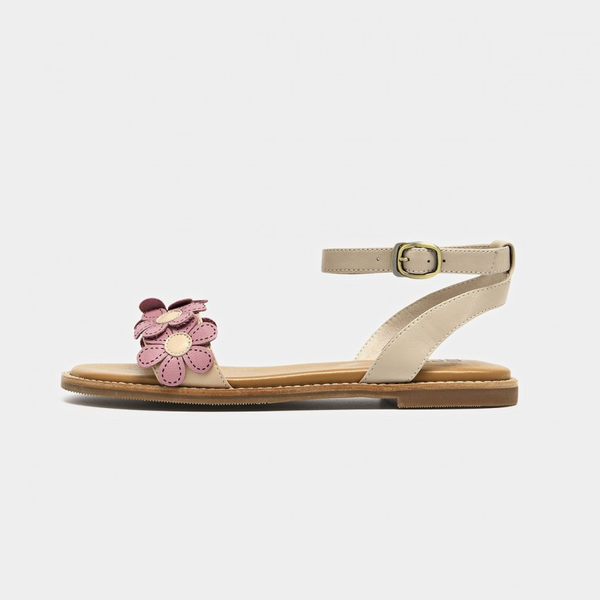 Buy Beau Flowers Ankle Strap Apricot Sandals online, shop Beau with free shipping