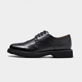 Beau Fully Brogued Leather Black Lace Ups (21089P)