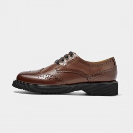 Beau Fully Brogued Leather Brown Lace Ups (21089P)
