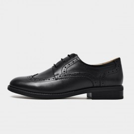 Beau Classic Oxford Brogued Black Lace Ups (21414)