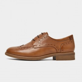 Beau Classic Oxford Brogued Brown Lace Ups (21414)