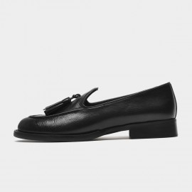 Beau Fringed Tassel Black Loafers (27132)