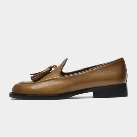 Beau Fringed Tassel Brown Loafers (27132)