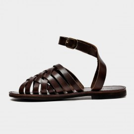 Beau Stylish Ankle Strap Coffee Sandals (33010)