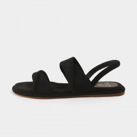 Masoomake Causal Black Sandals (FSL61915)