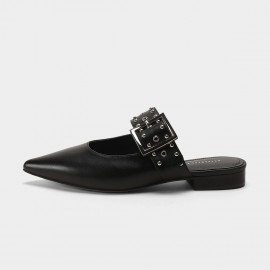 Masoomake Belt Black Sandals (FSL66077)