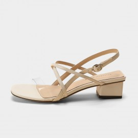 Masoomake Cross Stripe Nude Sandals (FSL69150)
