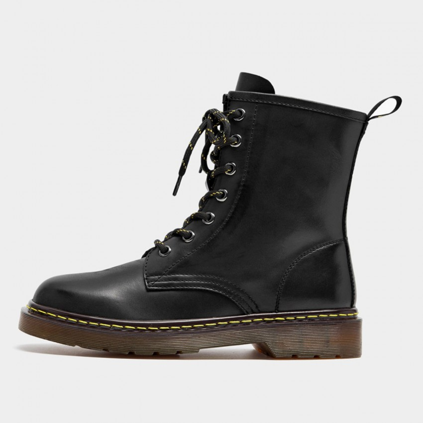 Beau Calf Leather High-Top Black Boots (02302)