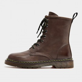 Beau Calf Leather High-Top Brown Boots (02302)