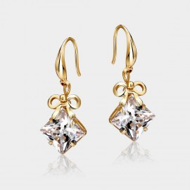 Caromay Brilliant Ribbon Gold Earrings (E0212)