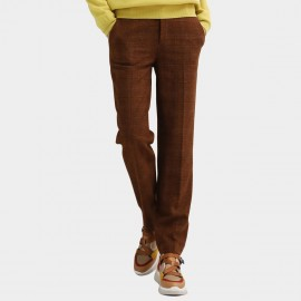 Cocobella Straight Tweed Brown Pants (PT564)