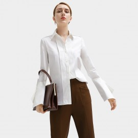 Cocobella Structured Long Cuff White Shirt (HT360)