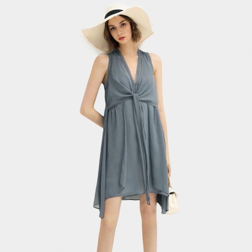 Buy Cocobella Sleeveless Short Airy Blue Dress online, shop Cocobella with free shipping