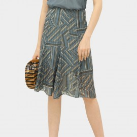 Cocobella Line Patterned Blue Skirt (DS1097)