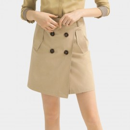 Cocobella Short Trench Khaki Skirt (DS1094)