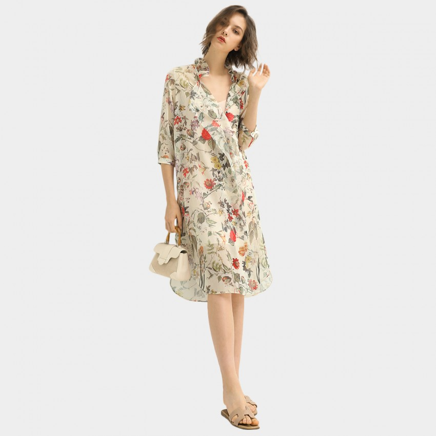Buy Cocobella Elbow-Length Sleeves Vintage Floral Dress online, shop Cocobella with free shipping